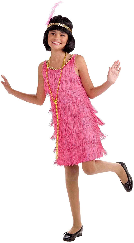 Forum Novelties Little Miss Flapper Child's Costume,Pink, Large