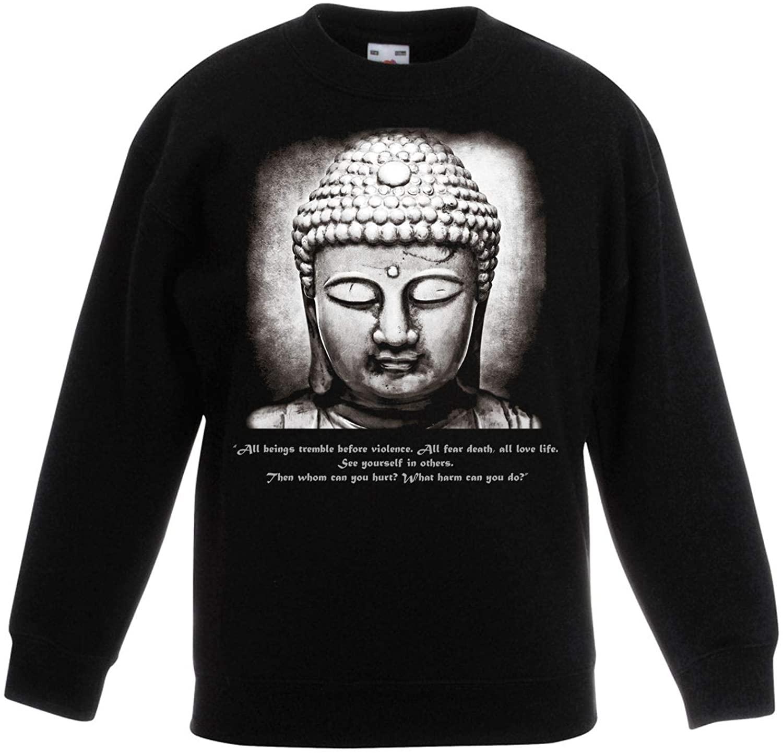 Tribal T-Shirts Buddha Vegetarian Quote Children's Toddler Kids Sweatshirt Jumper