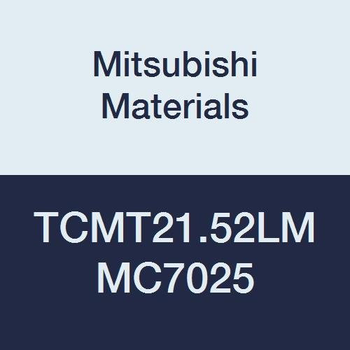 Mitsubishi Materials TCMT21.52LM MC7025 Coated Carbide TC Type Positive Turning Insert with Hole, LM Breaker, Triangular, Grade MC7025, 0.25