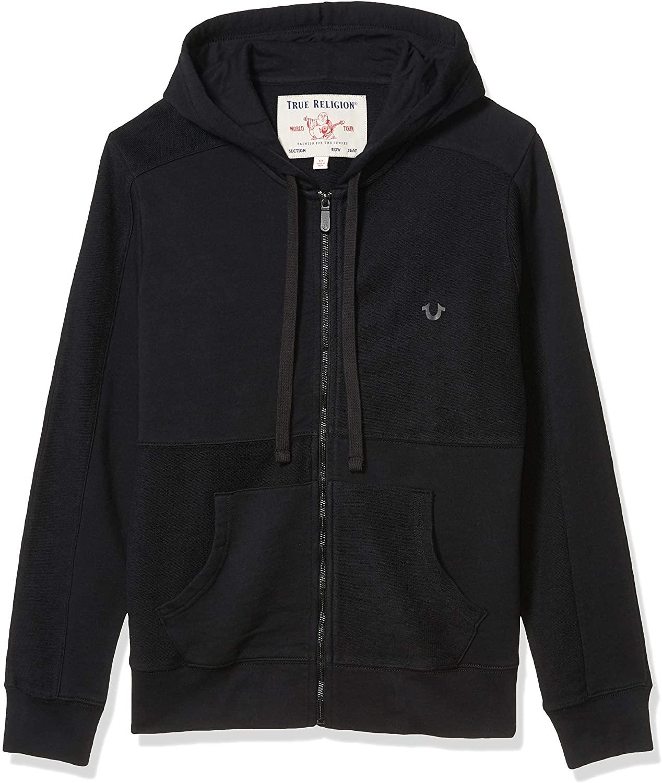 True Religion Mens Pullover Zip-up Hoodie