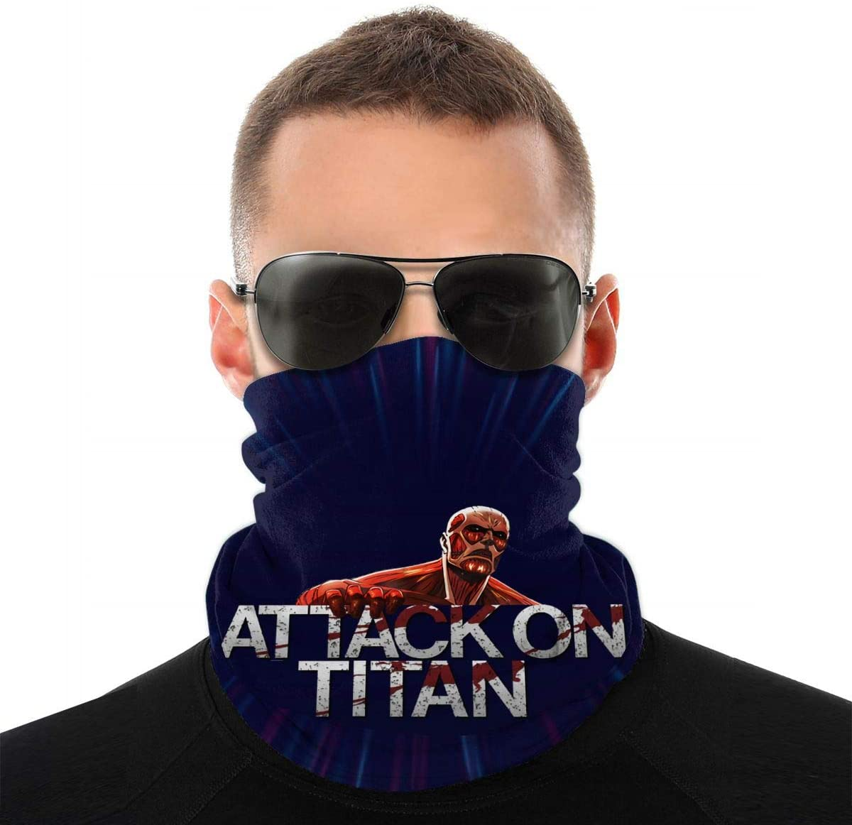 NOT Attack On Titan Colossal Titan Headwrap Scarf Face Hankie