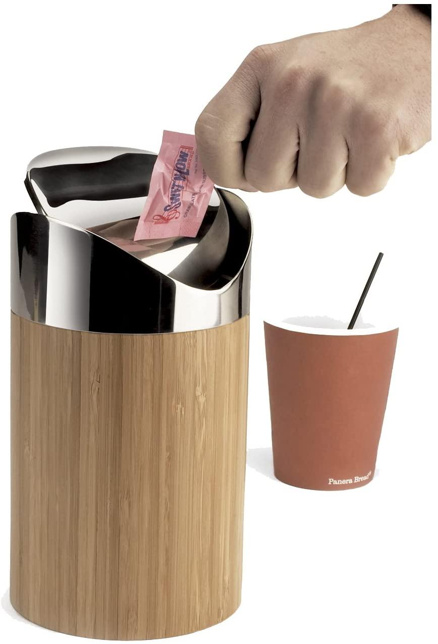 Cal-Mil 1717-60 Bamboo Counter Trash Bin