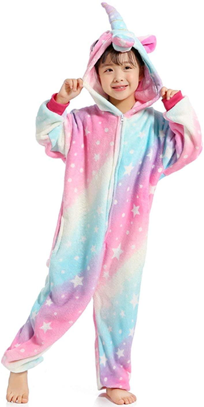 JT-Amigo Kids Unisex Cosplay Pajamas Onesie Costume, Zipper - Unicorn Star, 6-8 Years