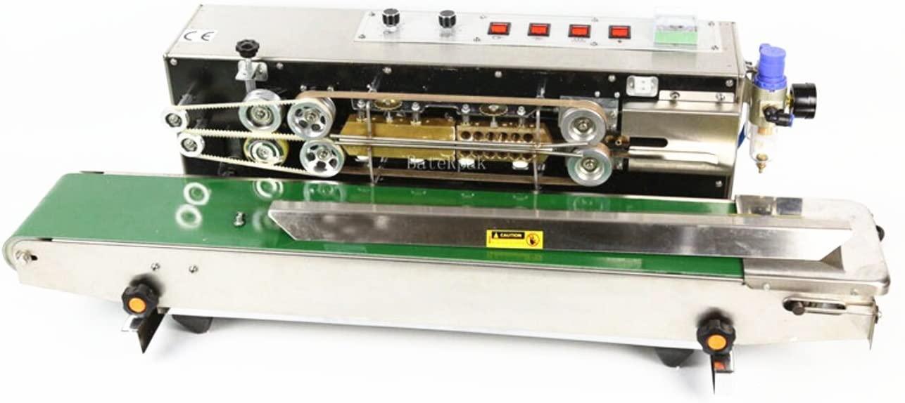 KUNHEWUHUA Automatic Continuous Band Sealer Inflation Nitrogen Film Sealing Machine Plastic Bag Package Machine 110v/220v