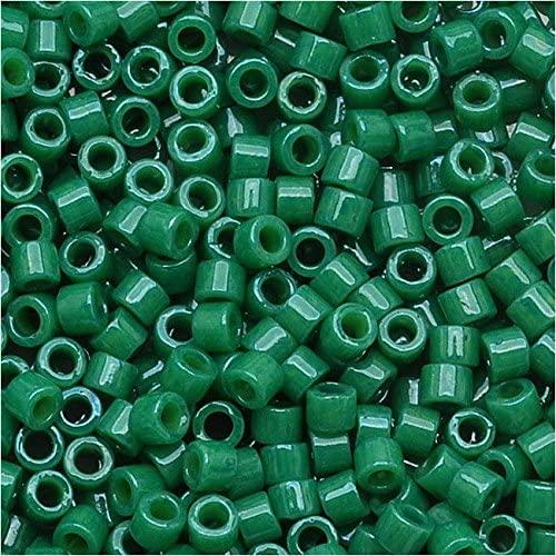 Miyuki DB-656 11/0 Dyed Op Jade Green 7g Delica Seed Bead