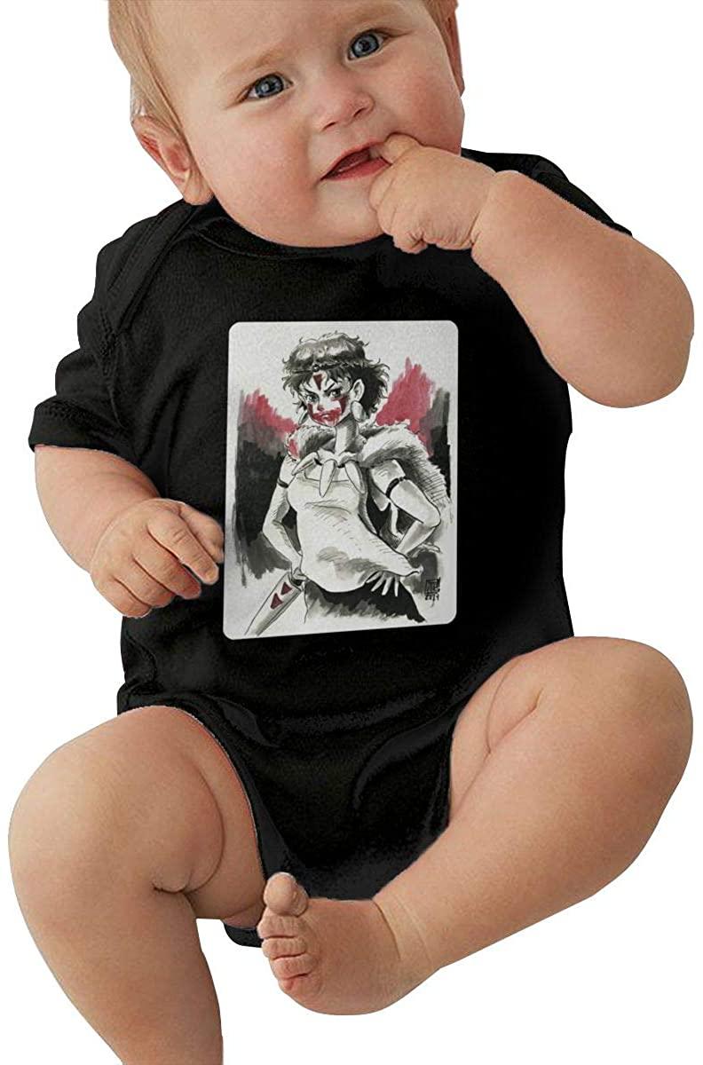 Pjj Princess Mononoke Funny Baby Climbing Clothes Short Sleeved Comfortable Soft Cotton 100%