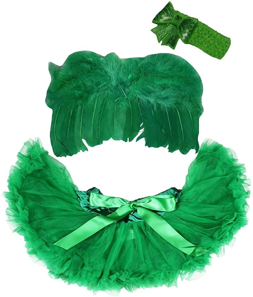 Petitebella Photo Prop Costume Green Angel Wing Newborn Baby Pettiskirt Dress Up