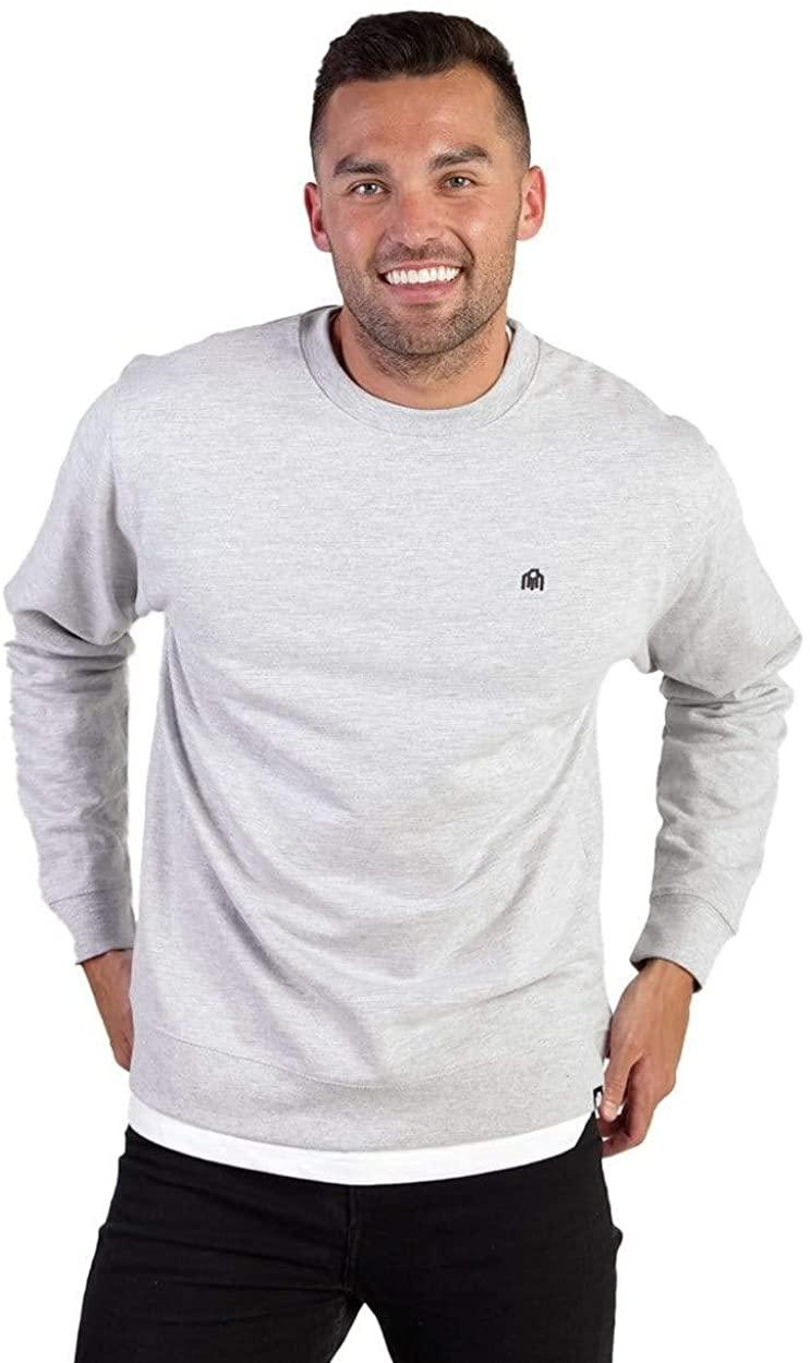 INTO THE AM Men's Premium Crewneck Sweatshirt - Ultra-Soft Modern Fit Sweater