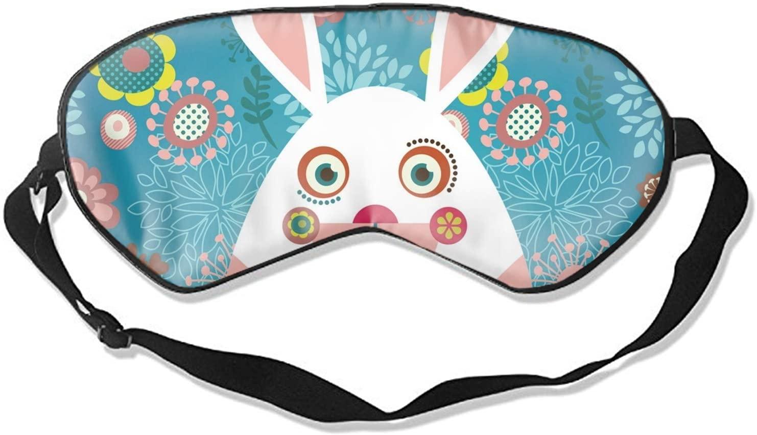 Easter Greeting Card with Bunny Travel Home Sleeping Eye Mask Cute Shading Eyeshade