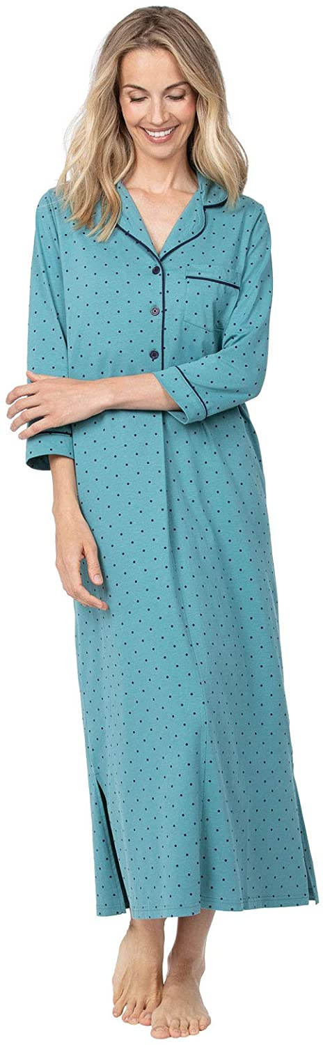 PajamaGram Womens Nightgown So Soft - Long Nightgowns for Women