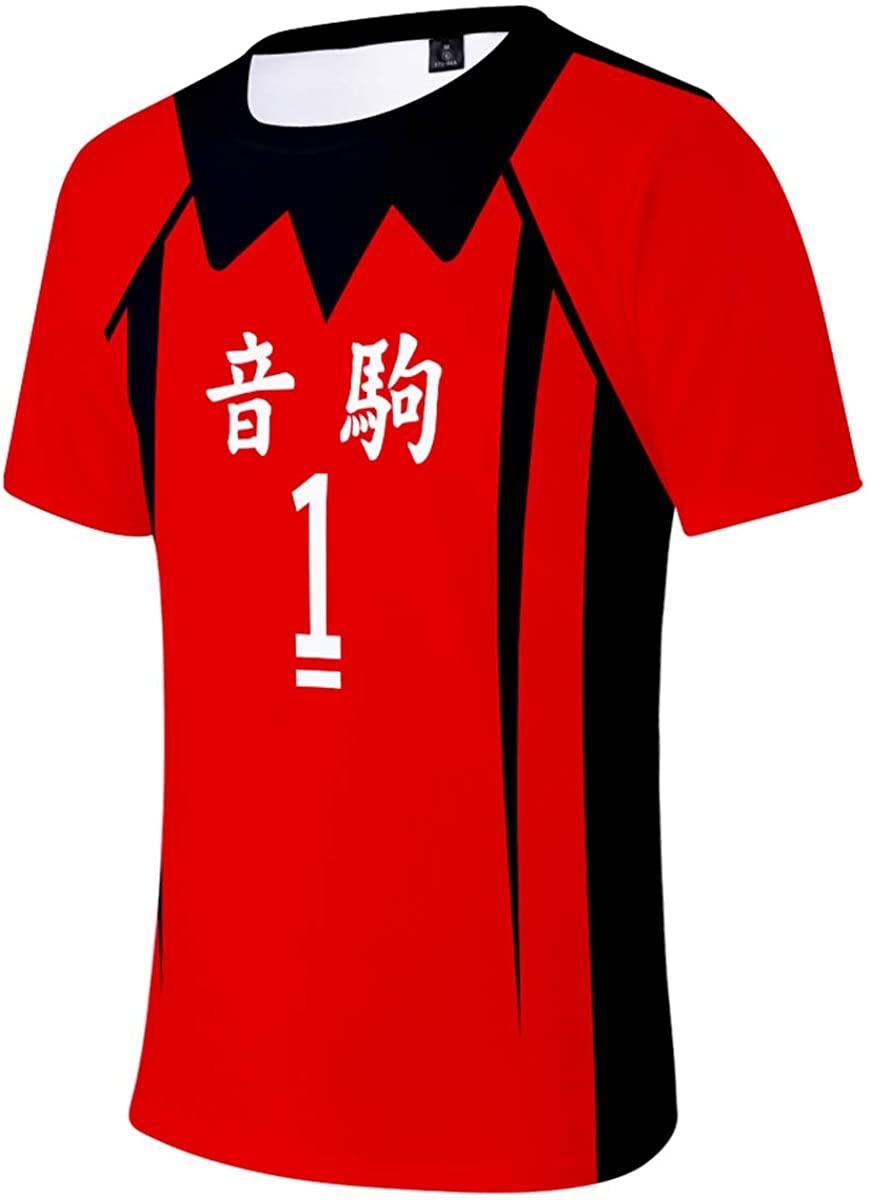 ELEFINE Haikyuu!! Anime Cosplay Men's T-Shirt and Women's Short Costume Tees