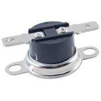 NTE Electronics NTE-DTO190 Snap Action Disc Thermostat, Open on Rise, 190° F Temperature, Loose Bracket, 1/4 QC Terminals