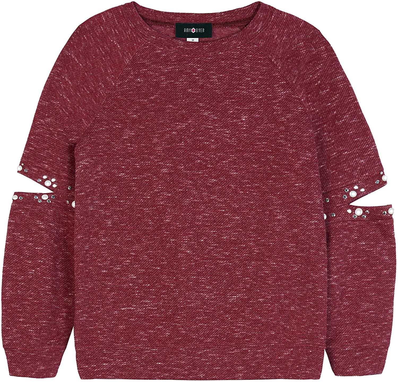 Amy Byer Girls' Big Lace Up Sweatshirt