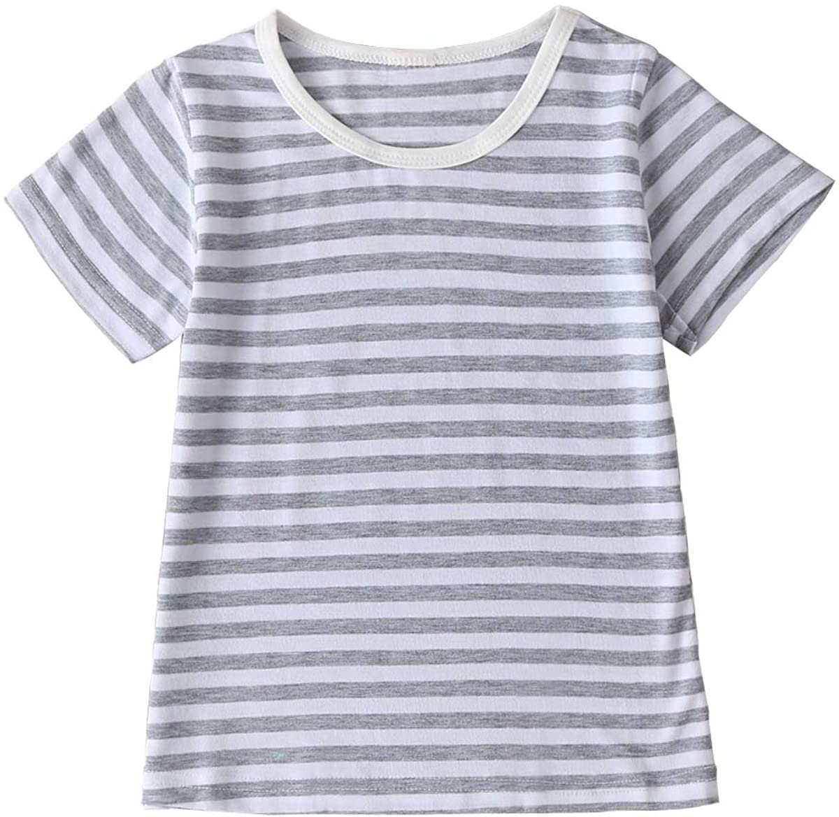 Toddler Kids Clothes Short Sleeves Striped T-Shrit Top Baby Boy Blouse Shirt Tees Summer