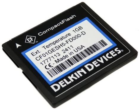Delkin Devices 1GB Industrial Rugged CompactFlash Memory Card CF01GESH5-FD000-D