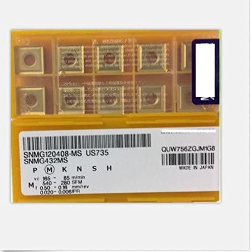 GBJ-1 10pcs SNMG120408-MS US735 SNMG432MS US735 New Carbide Inserts