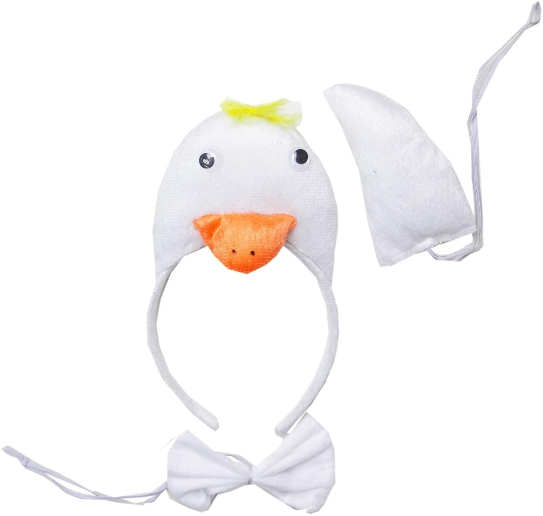 Kirei Sui White Swan 3D Headband Bowtie Tail 3pcs Costume