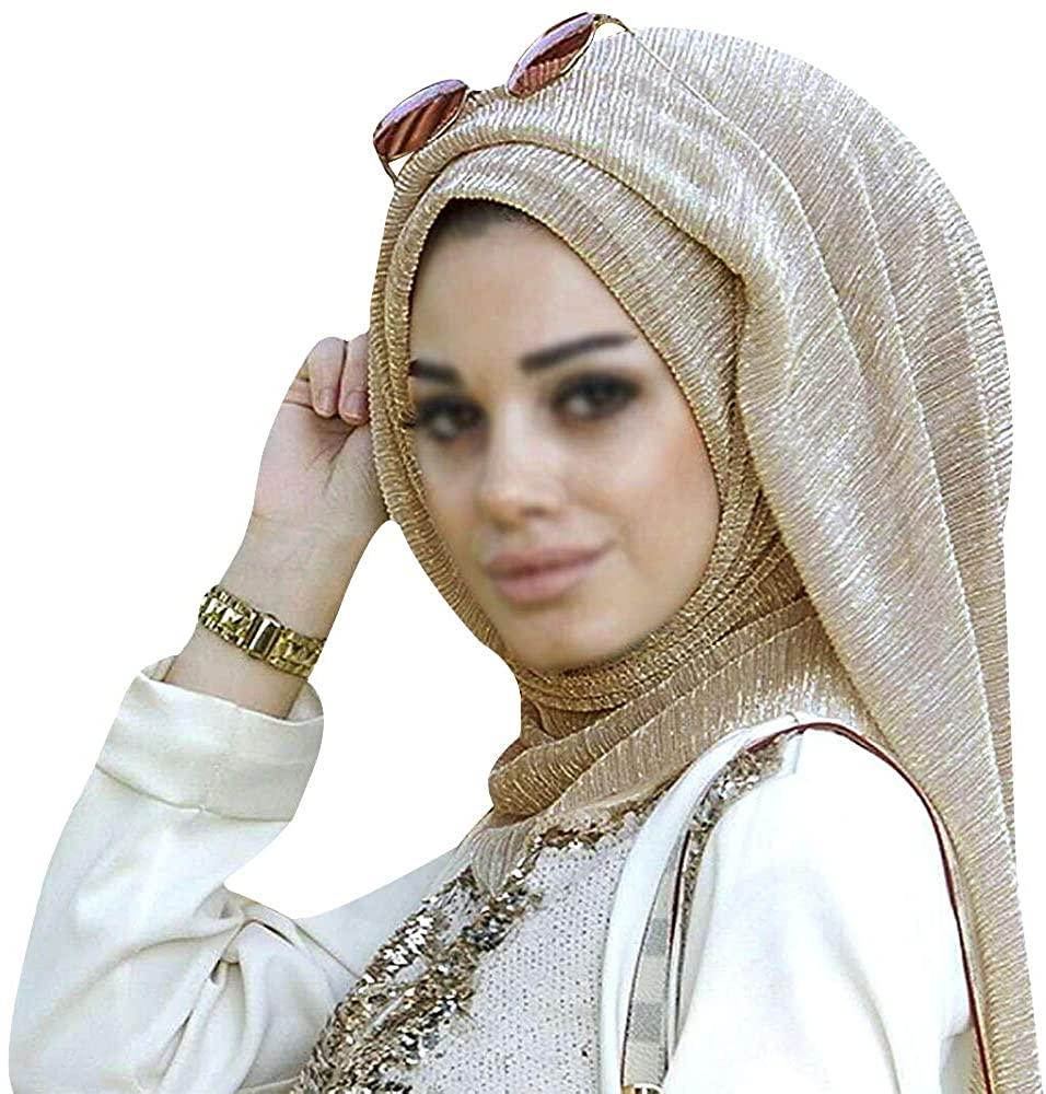 Adela Women Lightweight Scarf Muslim Turban Hijab Cap Long Scarf Wrap Shawl