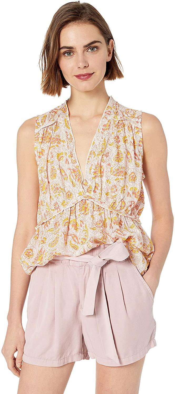 Lucky Brand Women's Sleeveless Romantic Ruffle Top