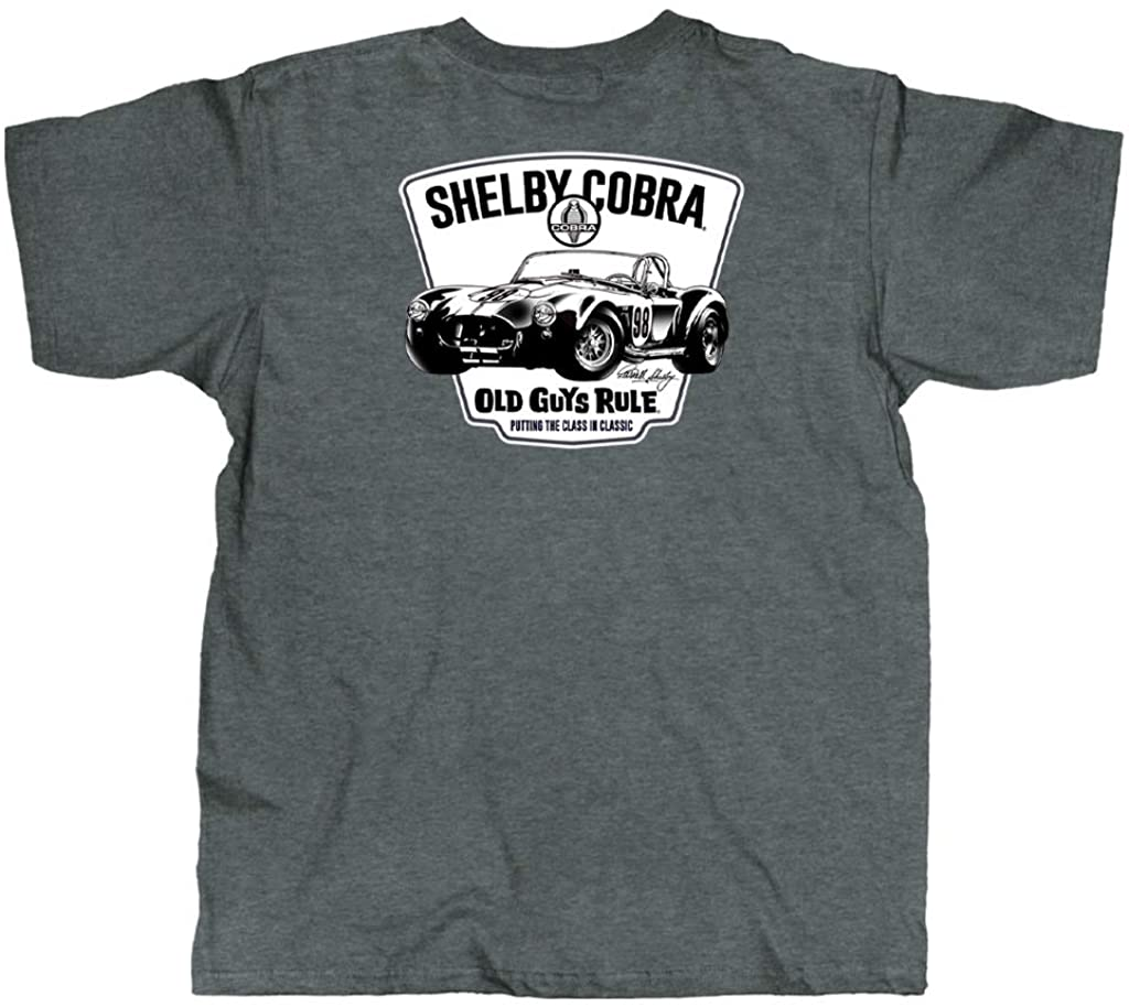OLD GUYS RULE T Shirt for Men | Shelby Cobra 98 | Dark Heather