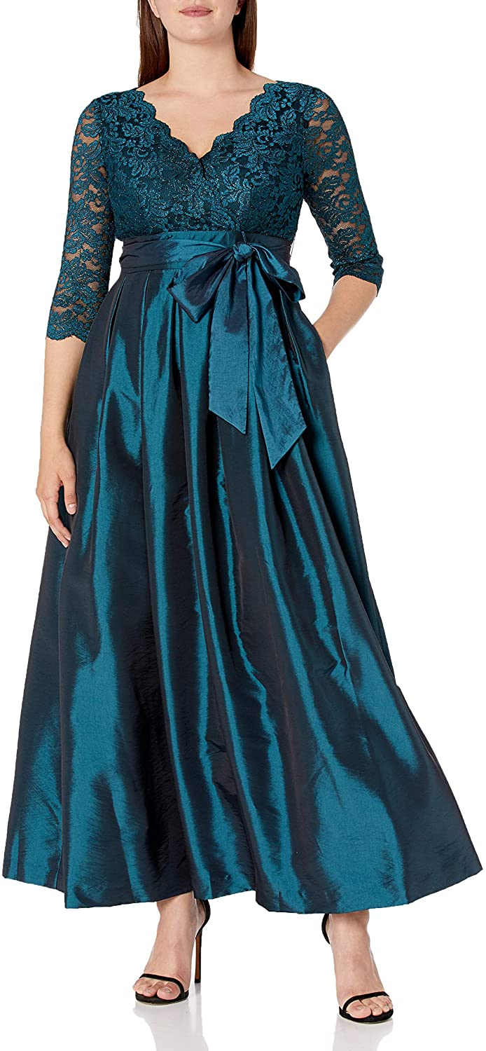 Jessica Howard Womens Surplus Bodice Dress with Pleated Skirt and Tie Sash