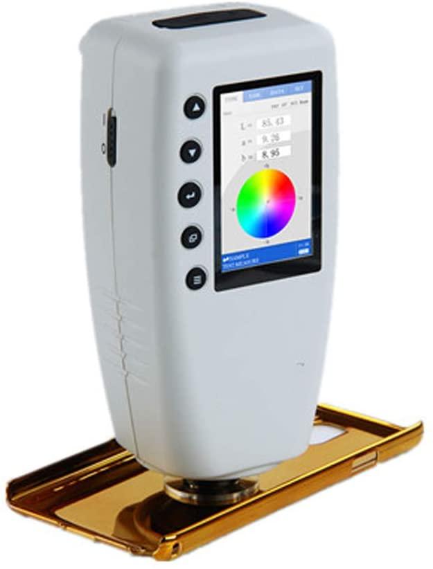 QWERTOUR High-Precision Digital Colorimeter Color Difference Meter Tester WR-10 (CIELAB,8mm,D65)