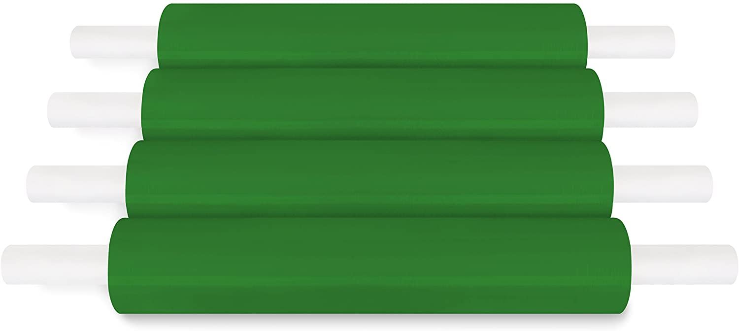 Green Color Extended Core Pallet Wrap Cast Film with 8 Red Handles 20