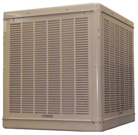 7500 cfm Ducted Evaporative Cooler, 3/4 hp, 17 gal.