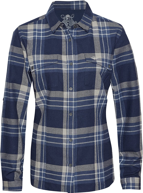 Mountain Designs Women's Pearl Seawool Long-Sleeve Plaid Shirt