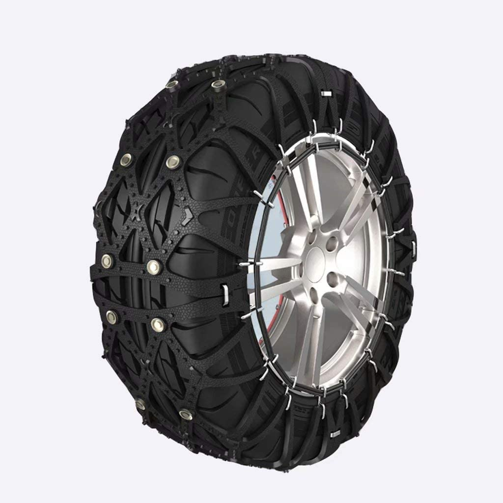 fscz Car Tire Rubber Wear-Resistant Anti-Skid Chain SUV Universal Car Snow Chain Wear-Resistant Non-Deformation Thickening Anti-Skid Snow Chain