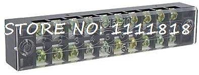 Davitu Terminals - 10-Positions 600V 15A Covered Screw Terminal Barrier Block