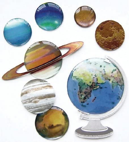 Jolee's Boutique Dimensional Stickers, The Globe and Planets