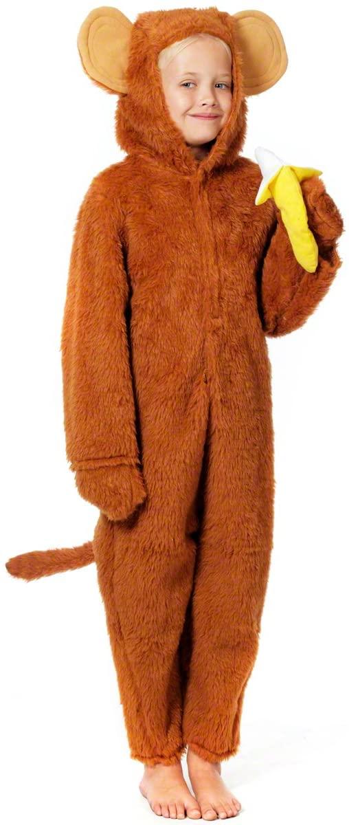 Charlie Crow Cheeky Monkey Costume for Kids 9-11 Years Brown