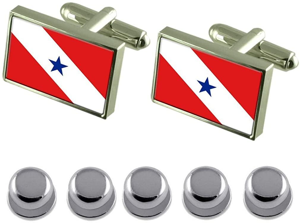 Select Gifts Shirt Dress Studs Pará Flag Cufflinks