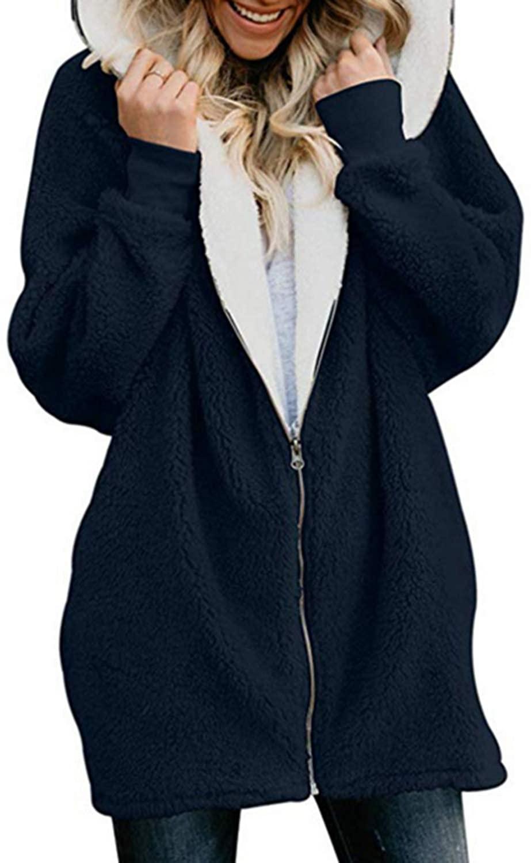 Kenoce Women's Cardigan Sweater Open Front Long Sleeve Chunky Warm Cardigans Sweaters Boho Knit Casual Loose Outwear Coat