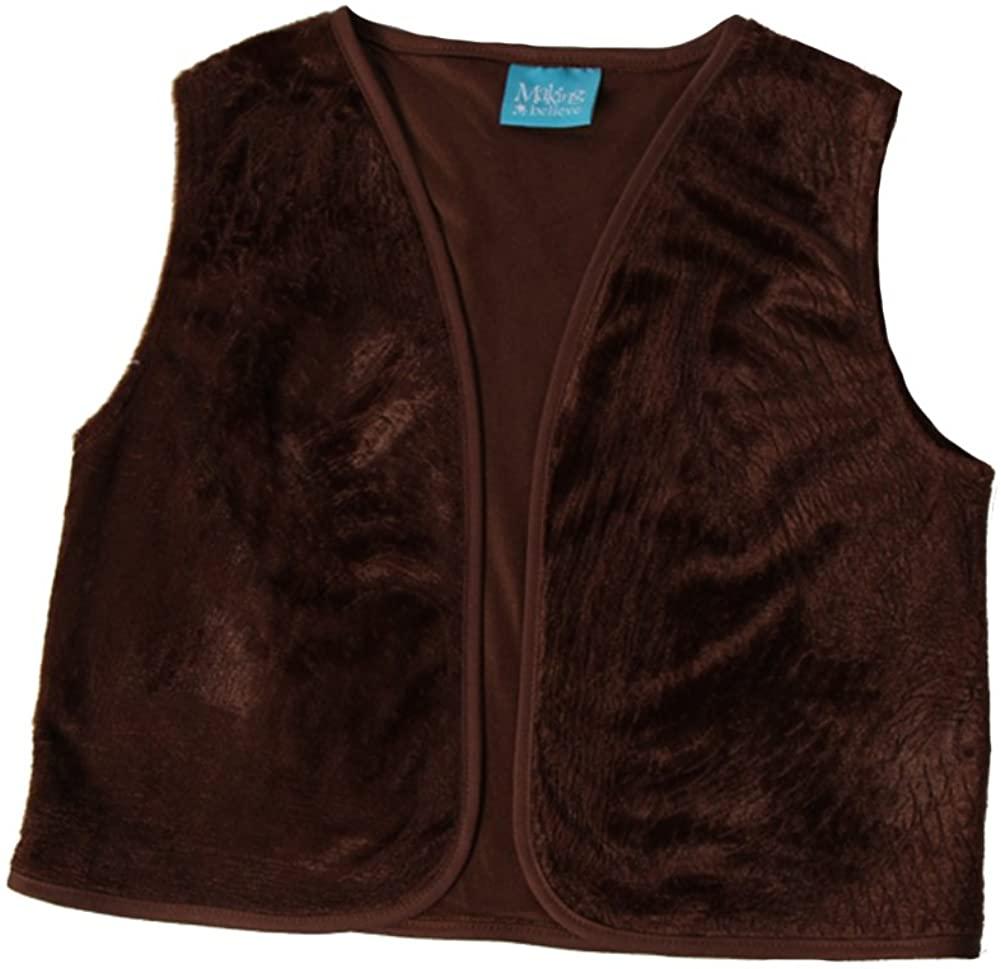 Kids Unisex Brown Victorian Waistcoat Vest, M/L