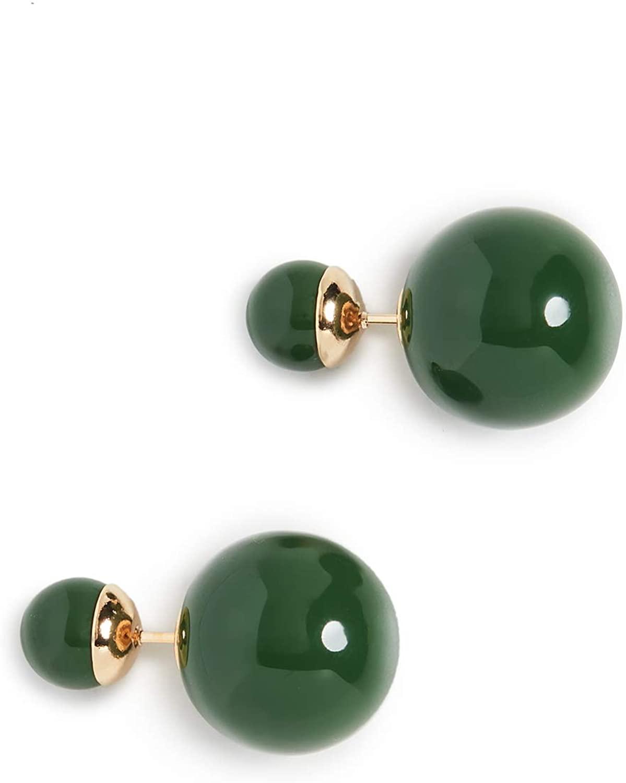 Shashi Women's Verde Double Ball Earrings