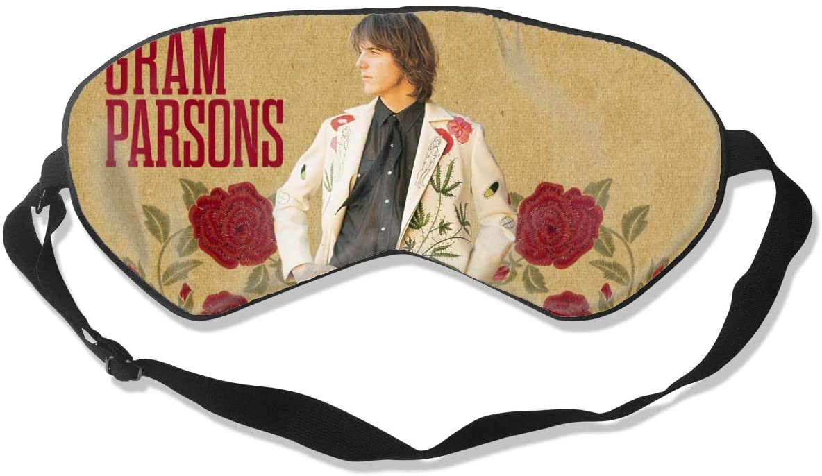 WushXiao Luanelson Gram Parsons Fashion Personalized Sleep Eye Mask Soft Comfortable with Adjustable Head Strap Light Blocking Eye Cover