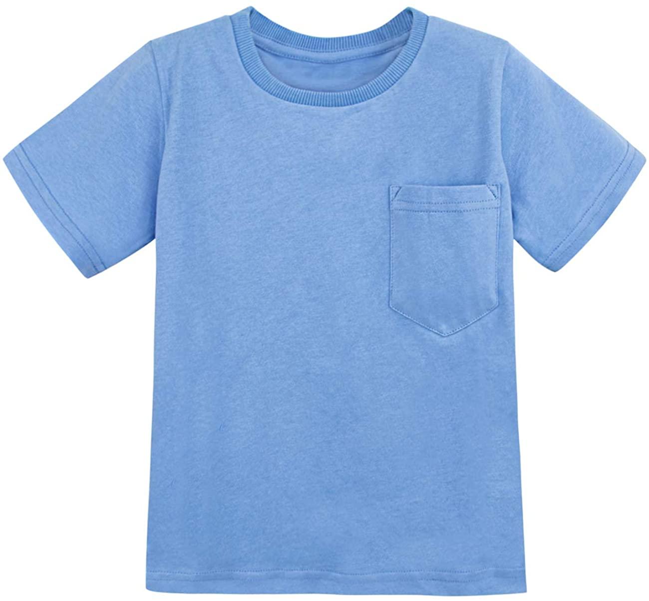 COSLAND Toddler & Kids Boys' Heavyweight Pocket T-Shirt