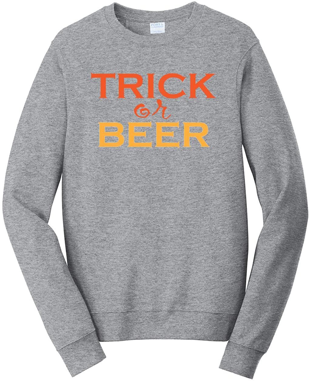 Tenacitee Unisex Trick or Beer Sweatshirt