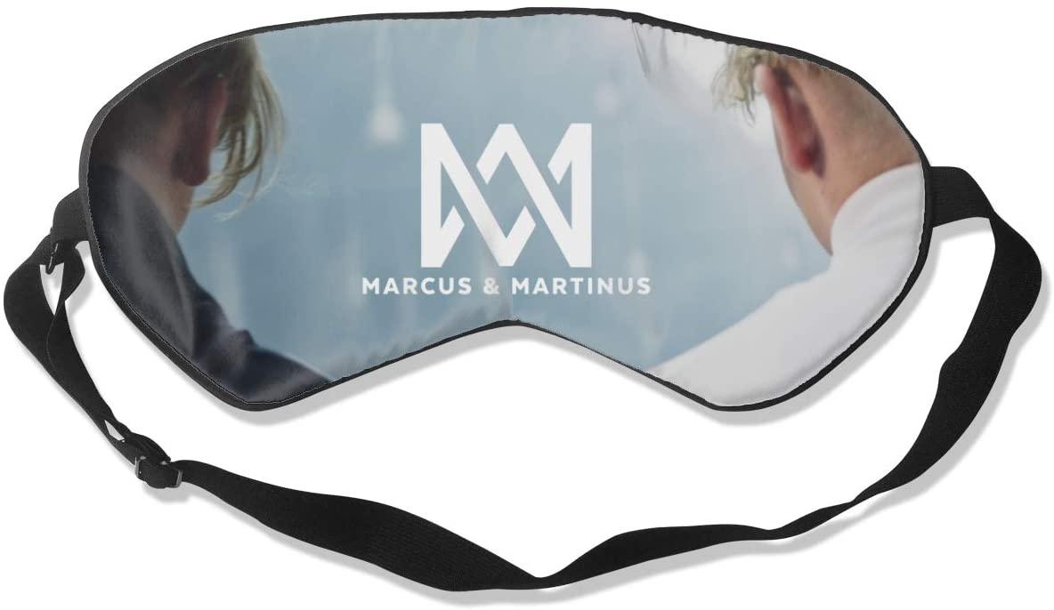 WushXiao Luanelson Marcus & Martinus Fashion Personalized Sleep Eye Mask Soft Comfortable with Adjustable Head Strap Light Blocking Eye Cover