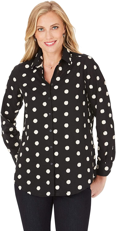Rhea in Clipped Circles LS Shirt