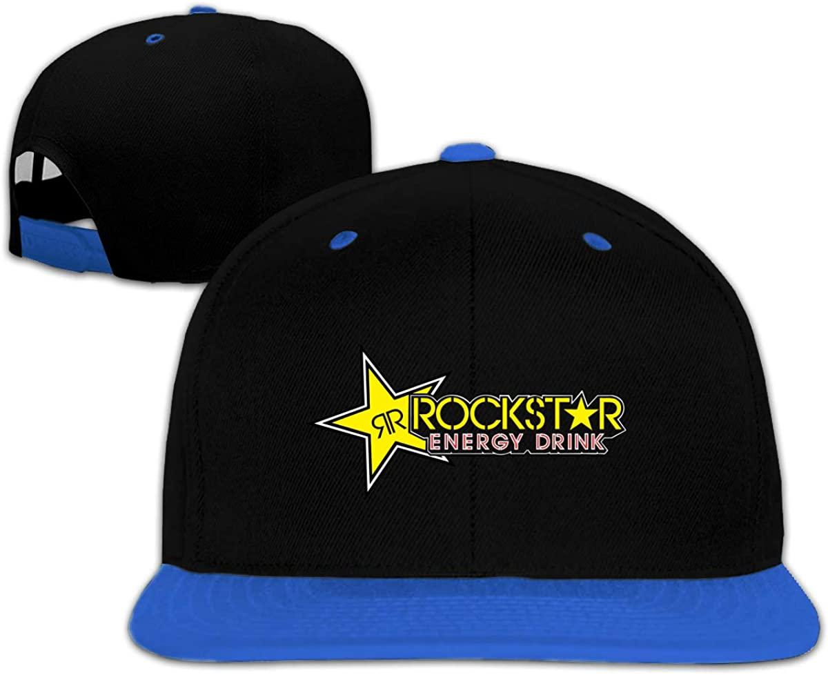 N/D Rockstar-Energy-Drink Children's Hip-Hop Baseball Cap, Adjustable Cap, Boys and Girls Blue
