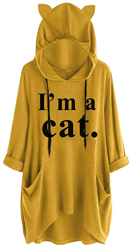 Women Plus Size Thin Pullover Hoodie Sweatshirts Casual Hooded Blouse Tops Baggy Drawstring Pocket Shirts Loose Tunics