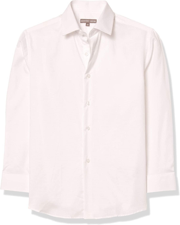 Geoffrey Beene Boys' Long Sleeve Solid Dress Shirt