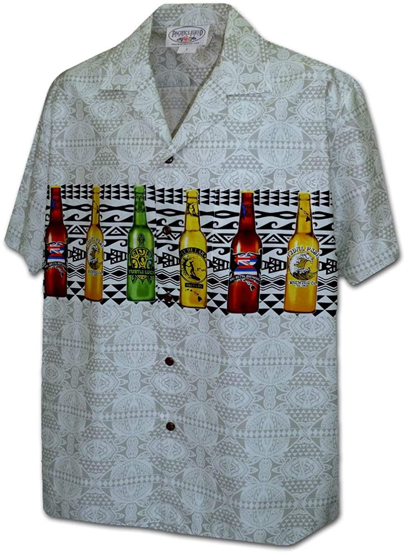 Pacific Legend Mordern Beer Mens Hawaiian Camp Shirts