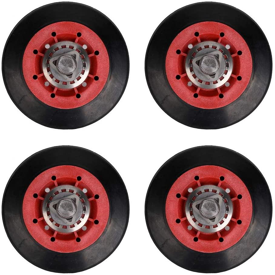 4581EL2002A Clothes Dryer Drum Roller Assembly for LG, Kenmore, GE. Dryer Drum Wheel & Axle Shaft Assembly Replace 4581EL2002A, 4581EL2002B, 4581EL2002C, 4581EL3001C, WE03X10008. 4 pcs