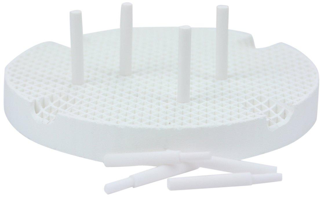 Garreco 7760801 Dental Honeycomb Firing Tray, 20 Ceramic Pins (Pack of 2)