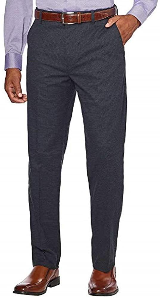 Kirkland Signature Men's Non-Iron Comfort Pant (40x29, Black)