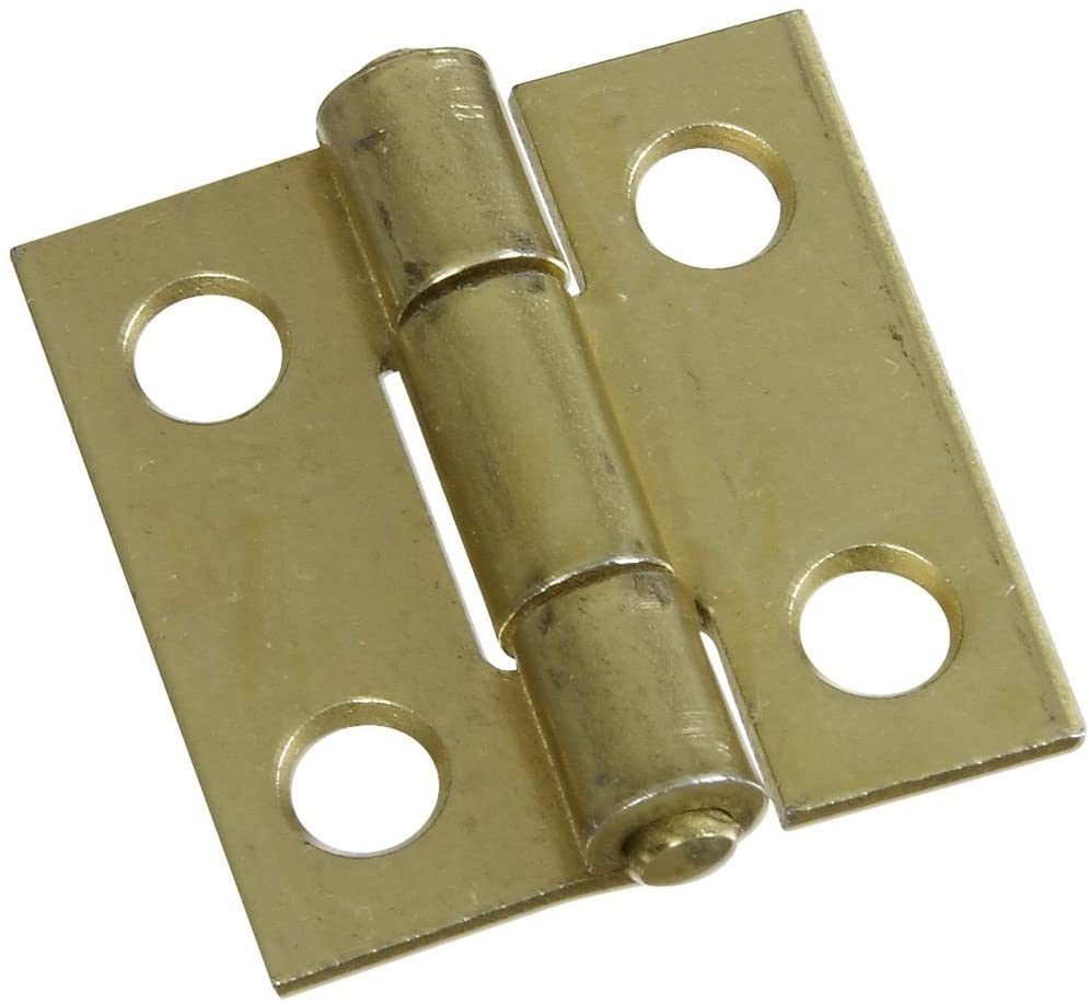 National Hardware N145-946 V518 Non-Removable Pin Hinges in Brass, 2 pack